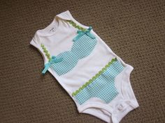 Hey, I found this really awesome Etsy listing at https://www.etsy.com/listing/154946036/bikini-applique-onesie-classic-gingham