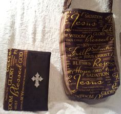 Inspirational Bag w Matching Bible Cover by NSpirationalMe on Etsy, $55.00 Bible Bag, Bible Covers, Jesus Christ, Joy, Inspirational, Trending Outfits, Unique Jewelry, Handmade Gifts, Bags