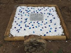 This marker lays on the resting place of a stunning and very much missed show horse called Cooper.  I think the memorial created for him is lovely.   http://memorialmarkers.com.au