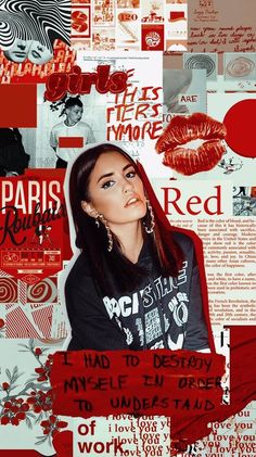Aesthetic Collage, Red Aesthetic, Poses For Photos, My Photos, Tumblr Wallpaper, Iphone Wallpaper, Background Pictures, Photomontage, Lock Screen Wallpaper