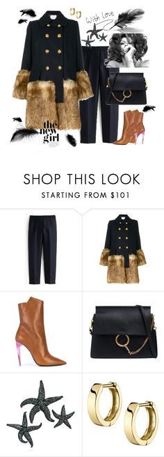"""""""light as a feather"""" by waltos ❤ liked on Polyvore featuring J.Crew, Sacai, Yves Saint Laurent and Chloé"""