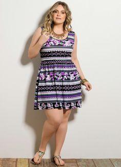 e42c05300a Vestido Floral Plus Size Vestido Étnico