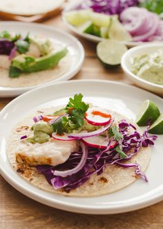 Fish Tacos with Avocado-Cilantro Sauce | www.kitchenconfidante.com