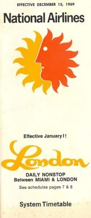 1969 - December 15 - National Airlines Timetables, Route Maps and History.