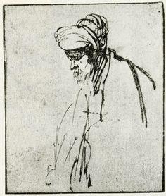Rembrandt – part 3 Rembrandt Etchings, Rembrandt Art, Rembrandt Drawings, Rembrandt Paintings, Portrait Sketches, Art Sketches, Pencil Portrait, Rubens Paintings, Paul Klee Art