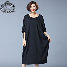 Cotton Solid Loose O-Neck Fashion Plus Size Dress     Tag a friend who would love this!     FREE Shipping Worldwide | Brunei's largest e-commerce site.    Buy one here---> https://mybruneistore.com/2017-new-summer-style-dress-plus-size-women-cotton-tshirt-dresses-casual-clothes-solid-loose-o-neck-fashion-lady-large-size-tops/