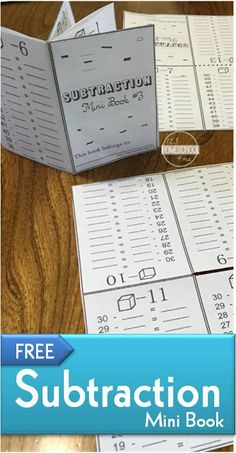 FREE Math Subtraction Book