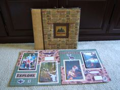 Premade camping scrapbook album.  $99.99.  Ready for your 4 by 6 photos.  20 pages.