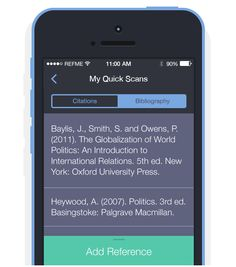 Reference Me - fabulous app for creating citations, managing bibliography and making life easier for academic referencing. International Relations, Making Life Easier, Harvard, Software, Politics, Apps, Ideas, App, Political Books