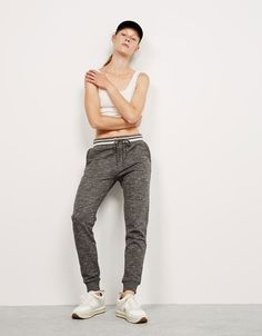Bershka Panamá - Pantalón jogger cintura rayas