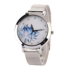 >> Click to Buy << Luxury Silver Women Watches Stainless Steel Lotus Watch Ladies Flower Clock relogio feminino reloj lotus #Affiliate