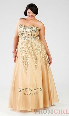 Strapless Plus Size Ball Gown at PromGirl.com