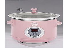 Ginny's Brand 6.5-Qt. Oval Digital Slow Cooker