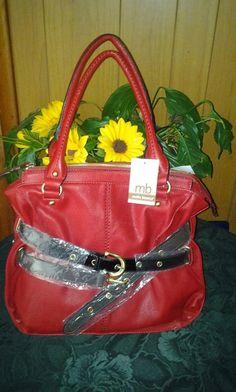 Mellie. Bianca. Leather handbag. Pretty 4 woman. F $45.00. Newt $45.00