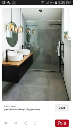 Sleek and modern bathroom