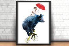 Animal illustration-Circus show  - Illustrations