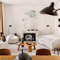 The apartment of emmanuel de bayser in berlin // via @archdigest  #designinspiration #design #decorating #1stdibs #modernist #eamesera #midcentury #interiors #interiordesign #vintagemodern #chairporn #chairsnobs  #midcenturymodern #furnitureporn #danishmodern #wood #glam #hollywoodregency #brass #abstractart #blue #lighting