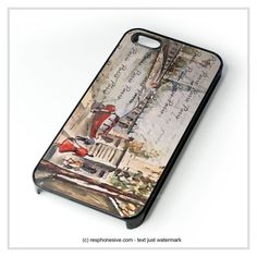 Old Paris Postcard With Eiffel Tower iPhone 4 4S 5 5S 5C 6 6 Plus , iPod 4 5 , Samsung Galaxy S3 S4 S5 Note 3 Note 4 , HTC One X M7 M8 Case