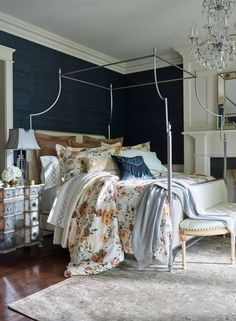 Awash in summer blooms, in a delicate watercolor motif, the Elodie Bedding Collection captures the sophistication and romance of a French Renaissance painting.
