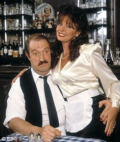 Rene-Gordon Kaye and Vikki Michelle British Tv Comedies, British Comedy, British Actresses, Actors & Actresses, Photography Movies, Erotic Photography, Vicki Michelle, Timeless Series, French Costume