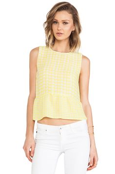 Dolce Vita Talisa Top in Yellow & White | REVOLVE