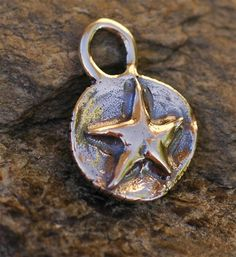 ONE Organic Raised Stars on Round Background Charm by cathydailey, $5.19