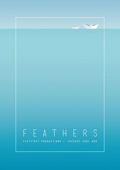 Feathers by James Bradley MISTD, via Behance