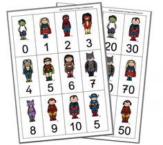superhero print outs Daily 5 Math, Superhero Classroom, Math Addition, Preschool Printables, 1st Grade Math, Cycle 3, Speech And Language, Teaching Math, Math Centers