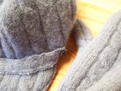 recycled felted sweater projects patterns for sewing mittens and newsboy hat