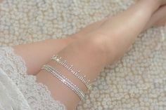 crystal bridal garter rhinestone garter vintage by annabrides, $28.90