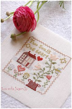 Heart in Bloom - Blackbird Designs - A Stitcher's Journey