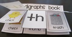 Cute little digraphs book for students to make to practice the ch sh and th sounds