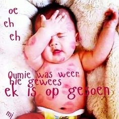 Onesies, Funny Quotes, Afrikaans, Babyshower, Kids, Funny Phrases, Young Children, Boys, Funny Qoutes