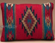 Southwest Pattern Pillow - Hand Woven Zapotec 12x16 (9a)