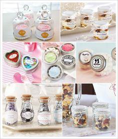 cadeaux invites retro vintage bouteille verre cloche en verre pot miel boite dragees pastilles metal pot en verre bocal