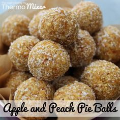 This recipe is loosely based on my Apple Crumble Balls that were featured in The Healthy Issue of the The 4 Blades TMX magazine. My kiddies love anything in Lunch Box Recipes, Snack Recipes, Cooking Recipes, Snacks, Raw Recipes, Lunchbox Ideas, Dried Peaches, Dried Apples, Dried Fruit