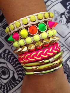 Arm Candy - NEON - SUMMER 2013- #Accessories #Stacking