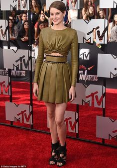 A Divergent look: Shailene Woodley looked sensational as she attended the 2014…