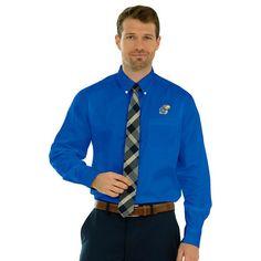 Kansas Jayhawks Wicked Woven Long Sleeve Button-Down Shirt - Royal - $59.99