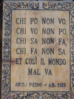 Vecchi proverbi italiani.