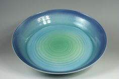 Ceramics by Bob Kershaw at Studiopottery.co.uk - Stoneware Dish, Dia: 40cm. 2006, By Bob.