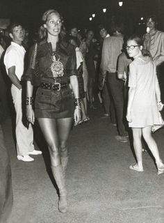 Models had street style before there was a name for it. Marisa Berenson