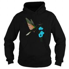 Cool Green Hummingbird Blue Flowers Womens Organic T Shirt Best Friend Shirt T shirts