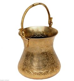 orient Massiv Messing Eimer kübel Blumenübertopf  Persien brass persian bucket B
