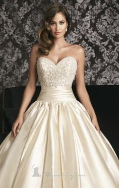 Beaded Mikado Gown by Allure Bridals 9001...love this look except in a pure white