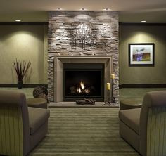 Decoration Items for the Contemporary Fireplace Mantels : Modern Fireplace Concrete And Stone Livingroom Ideas