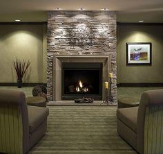 cool Modern Fireplace Concrete & Stone Livingroom - Stylendesigns.com!