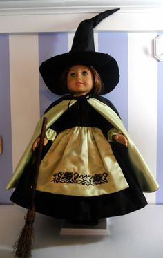 Silk Witch Halloween Costume for American by RebeccasHeirlooms,