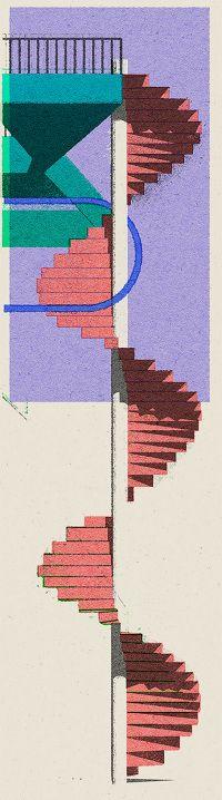 Leonie Bos, 'Pink Stairs'