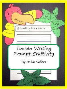 Toucan Writing Prompt Craftivity Page Topper for your rain forest or zoo unit: You have lots of options. There is a cover page that includes the animal's name followed by three different prompts and a graphic organizer...